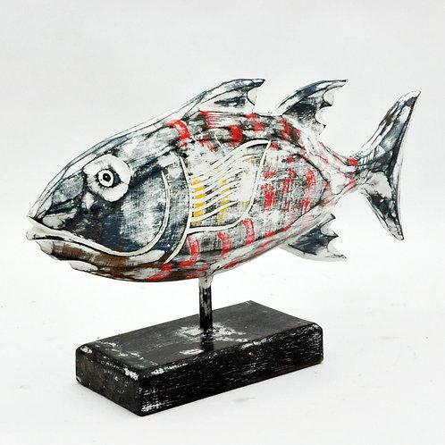 WOODEN FISH 24x28x10cm