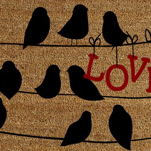 40 X 60 BLACK BIRDS ON A WIRE DOORMAT