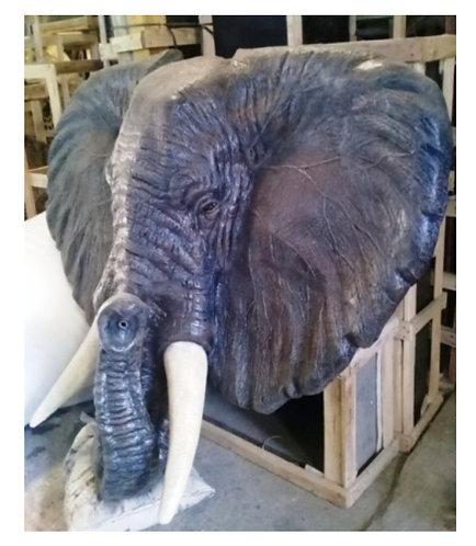 170CM FIBRE GLASS ELEPHANT FACE