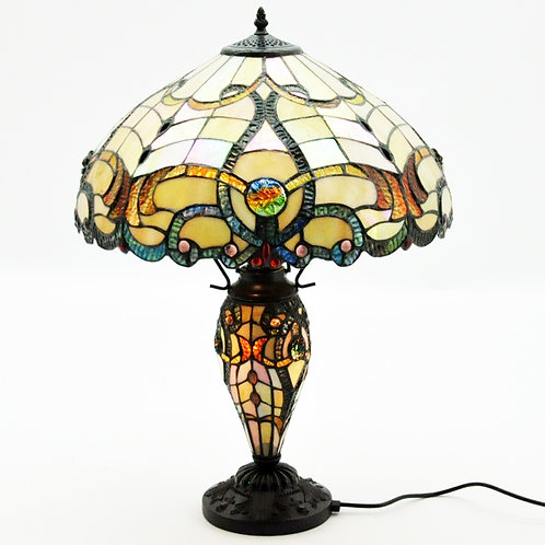 """18"""" DOUBLE TIFFANY LAMP"""