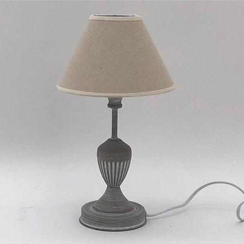 35CM LIGHT GREY TABLE LAMP