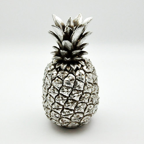 21CM ANTIQUE SILVER PINEAPPLE JAR