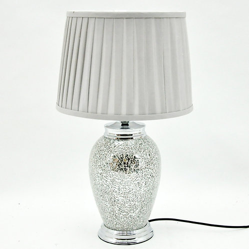 55x33x33CM CRACKLE GLASS LAMP AND SHADE