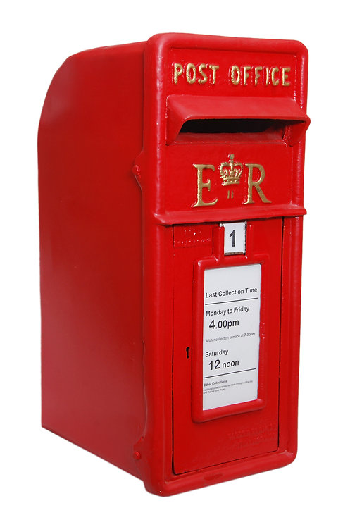 58CM RED CAST IRON POST BOX