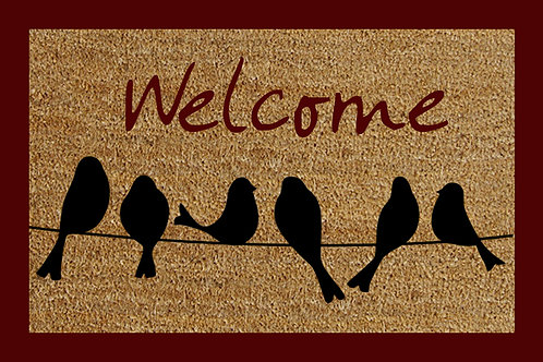 40 X 60 WELCOME BIRDS DOORMAT