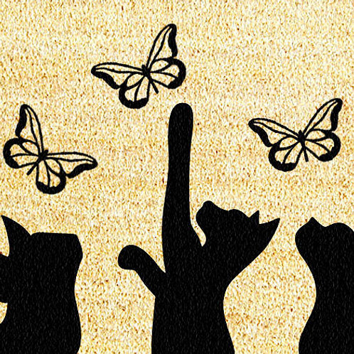40 X 60 CATS & BUTTERFLIES DOORMAT