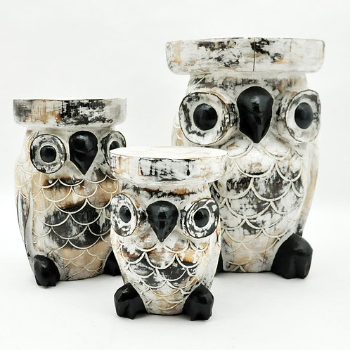 50/40/30CM SET 3 OWL TABLES
