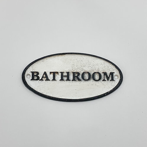17X9CM BATHROOM CAST IRON SIGN