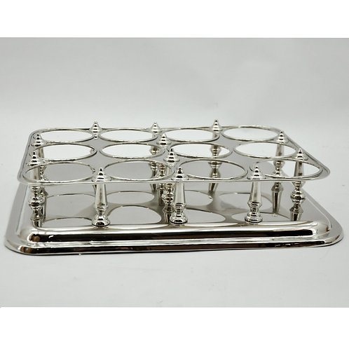 49CM NICKLE PLATED BOTTLE STAND