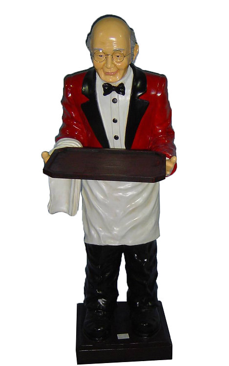 145CM RESIN WAITER WITH TRAY