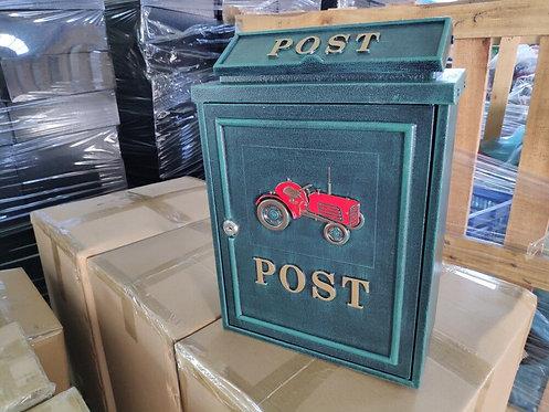 GREEN CAR ALUMINIUM WALL MOUNTED POST BOX