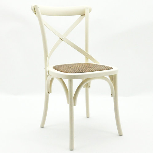WHITE FRENCH CROSS BACK CHAIR