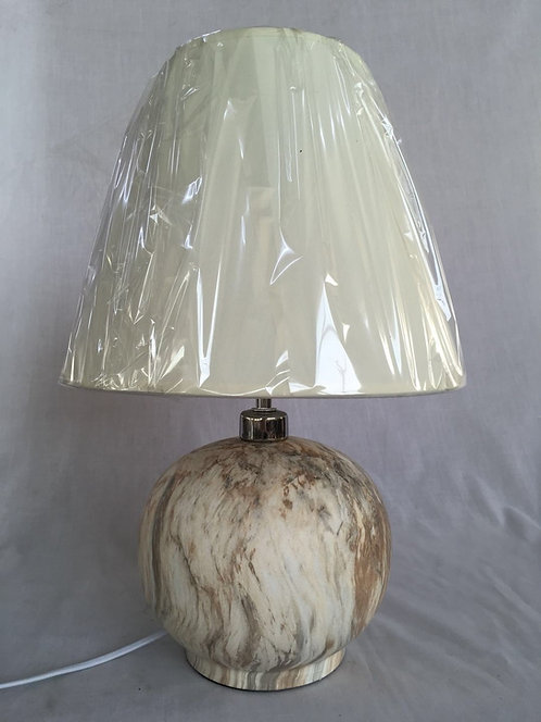 43CM MARBLE STYLE LAMP AND SHADE