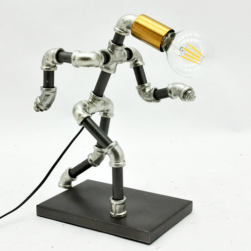 37CM METAL INDUSTRIAL PIPPING TABLE LAMP