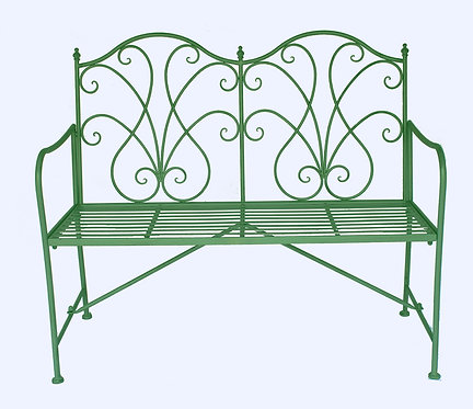 109CM TURQUOISE 2 SEATER BENCH