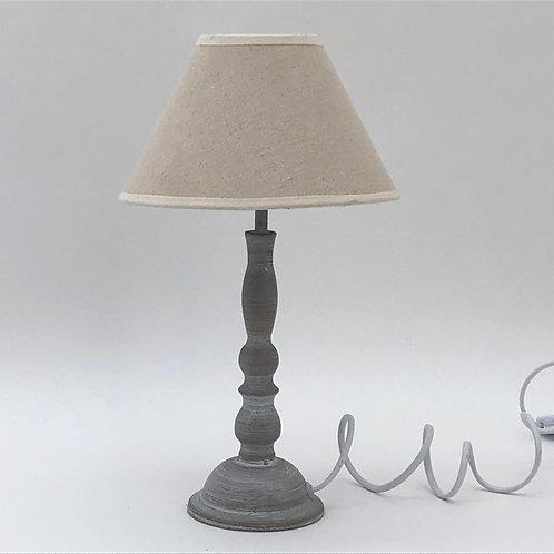 34CM LIGHT GREY TABLE LAMP