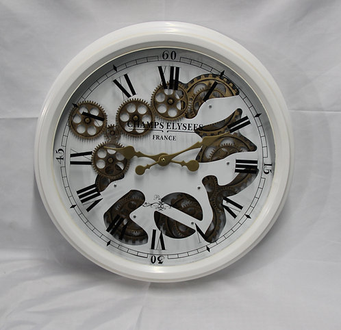 52.5CM WHITE WALL CLOCK