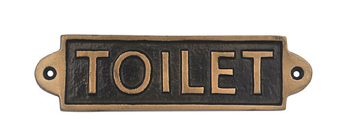 TOILET - METAL SIGN