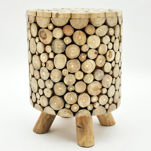 30X30X40CM TEAK BRANCH ROOT ROUND STOOL
