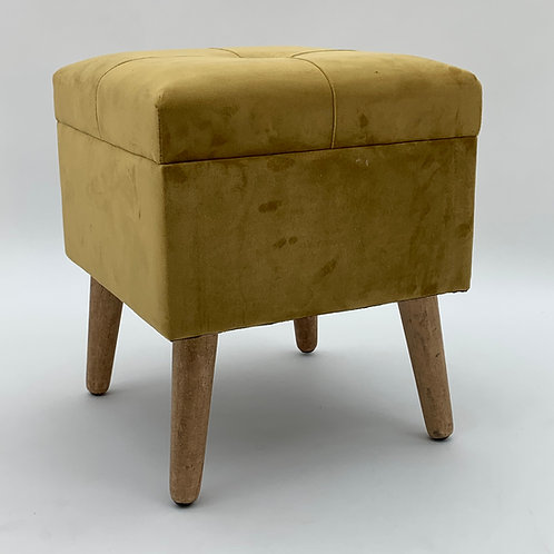 YELLOW WOODEN TRUNK