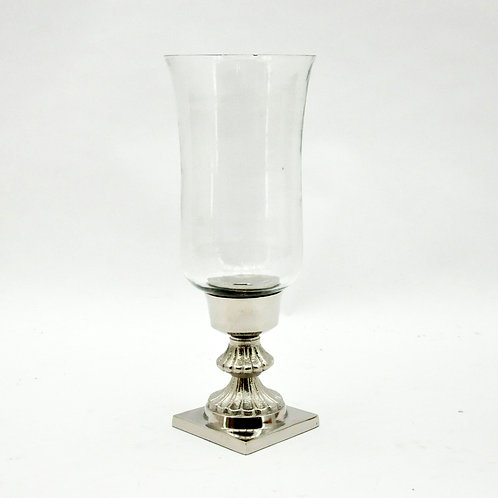 40CM NICKEL HURRICANE LAMP