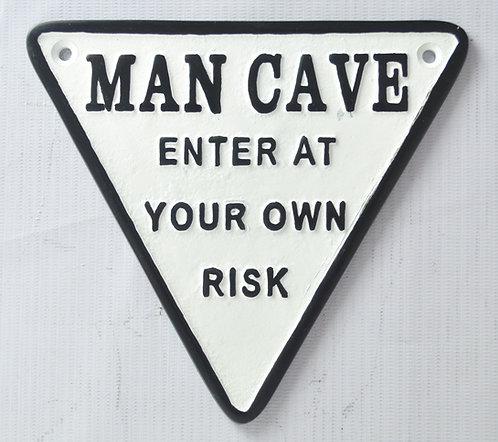 17CM CAST IRON MAN CAVE WALL PLAQUE