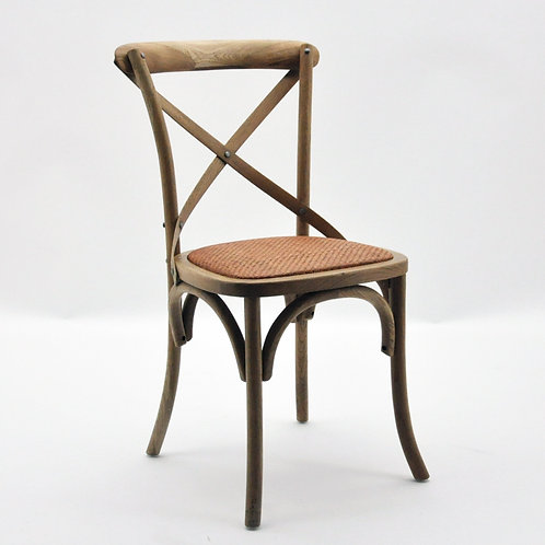 NATURAL FRENCH CROSS BACK CHAIR