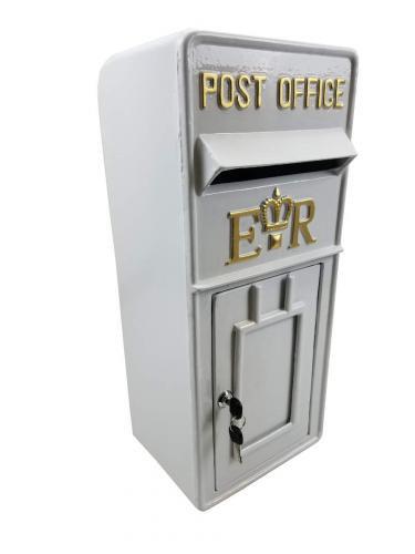 60CM WHITE UK POST BOX