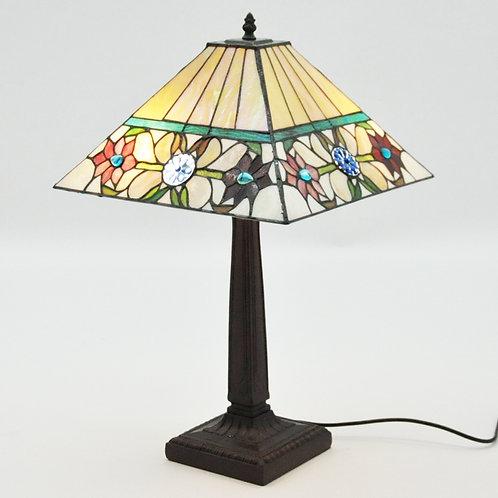 "14"" SQUARE SHADE TWISTED STEM LAMP"