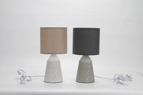 39CM GREY LAMP AND SHADE