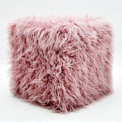 38CM PINK FLUFFY FOOTSTOOLS