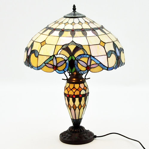 "18"" DOUBLE TIFFANY LAMP"
