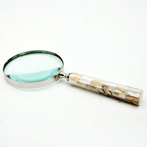 "4"" NICKEL MAGNIFYING GLASS"