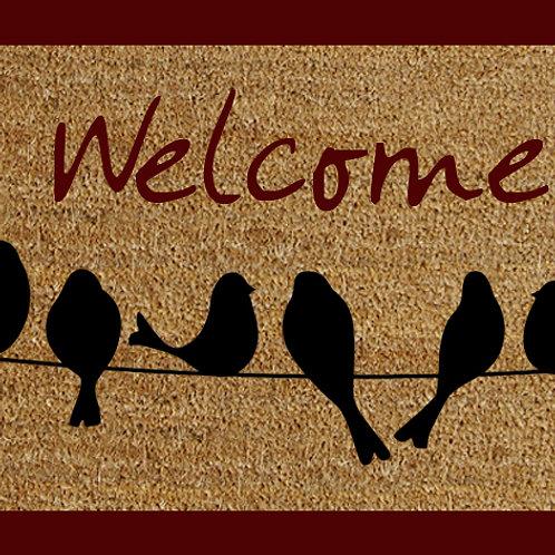 40 X 60 WELCOME BIRDS DOORMAT