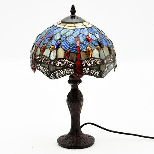 """10"""" SHADE  BLUE DRAGONFLY TIFFANY LAMP"""