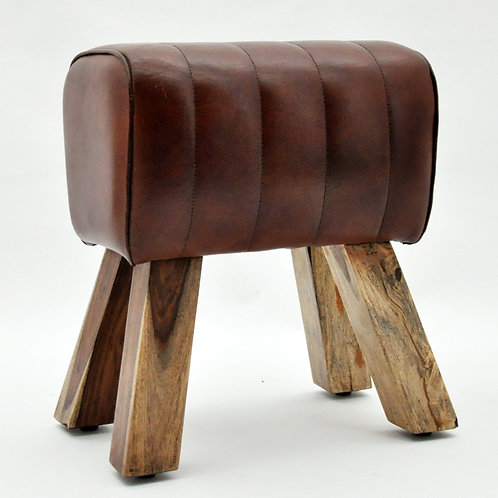 47x40x430cm LEATHER FOOTSTOOL