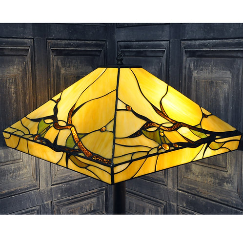 "18"" SHADE STANDARD TIFFANY LAMP"
