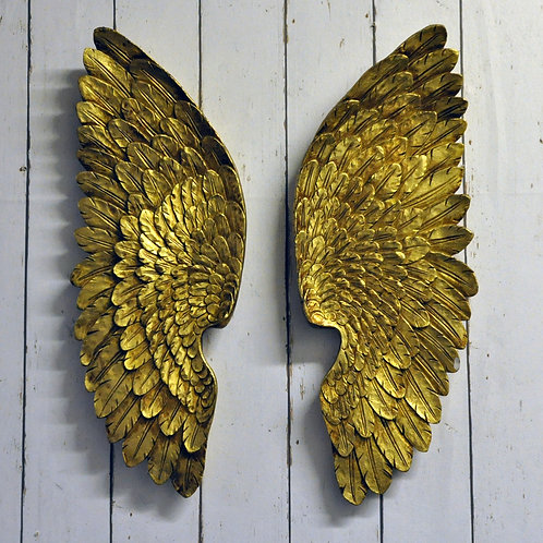 37CM ANTIQUE GOLD LEFT / RIGHT WINGS