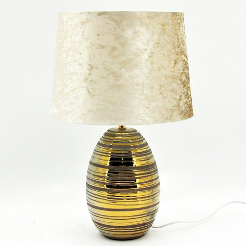 39CM GOLD LAMP AND SHADE