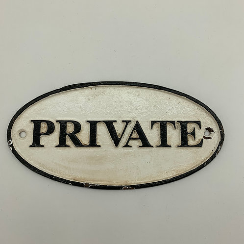 18x9CM PRIVATE SIGN