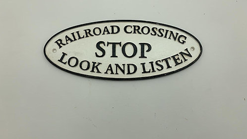 38X16CM RAIL ROAD CROSSING SIGN