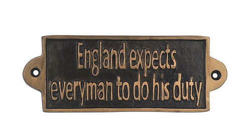 ENGLAND EXPECTS- METAL SIGN