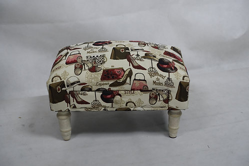 LADIES FABRIC FOOTSTOOL WITH DRAWER