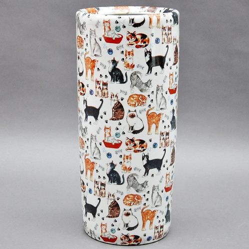 "18""ROUND ASSORTED CATS UMBRELLA STANDS"
