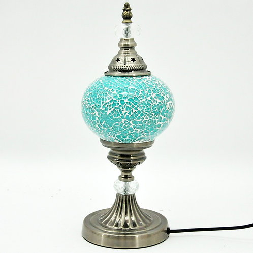 TURQUOISE CRAFT TABLE LAMP