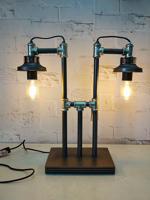 48CM METAL INDUSTRIAL PIPPING TABLE LAMP