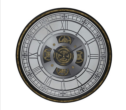 50CM WALL CLOCK WITH MOVING GEARS