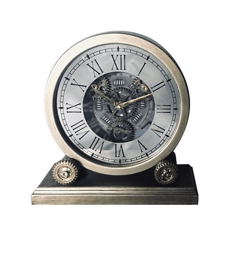 35CM TABLE CLOCK WITH MOVING GEARS