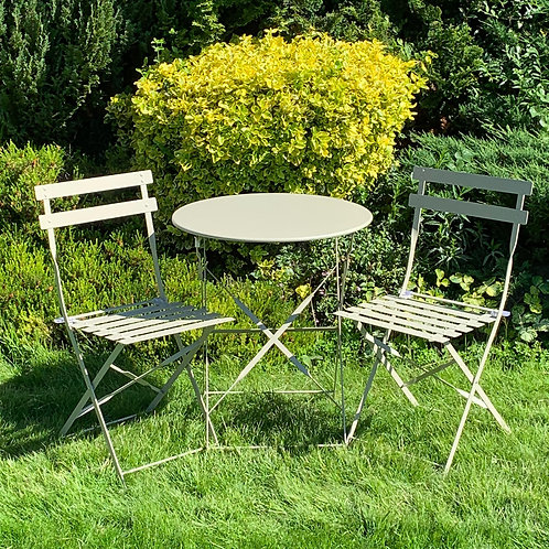 CREAM METAL BISTRO SET