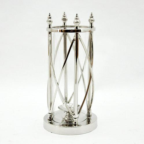 38CM NICKLE PLATED HURRICANE LAMP
